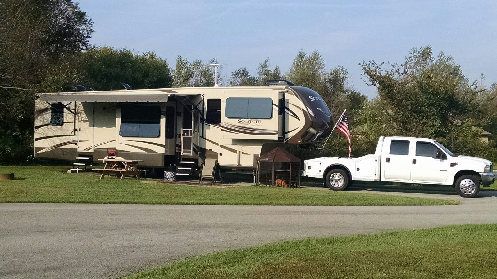 2015 Grand Design Solitude 379 Fl And 2004 Ford F 550 For Sale