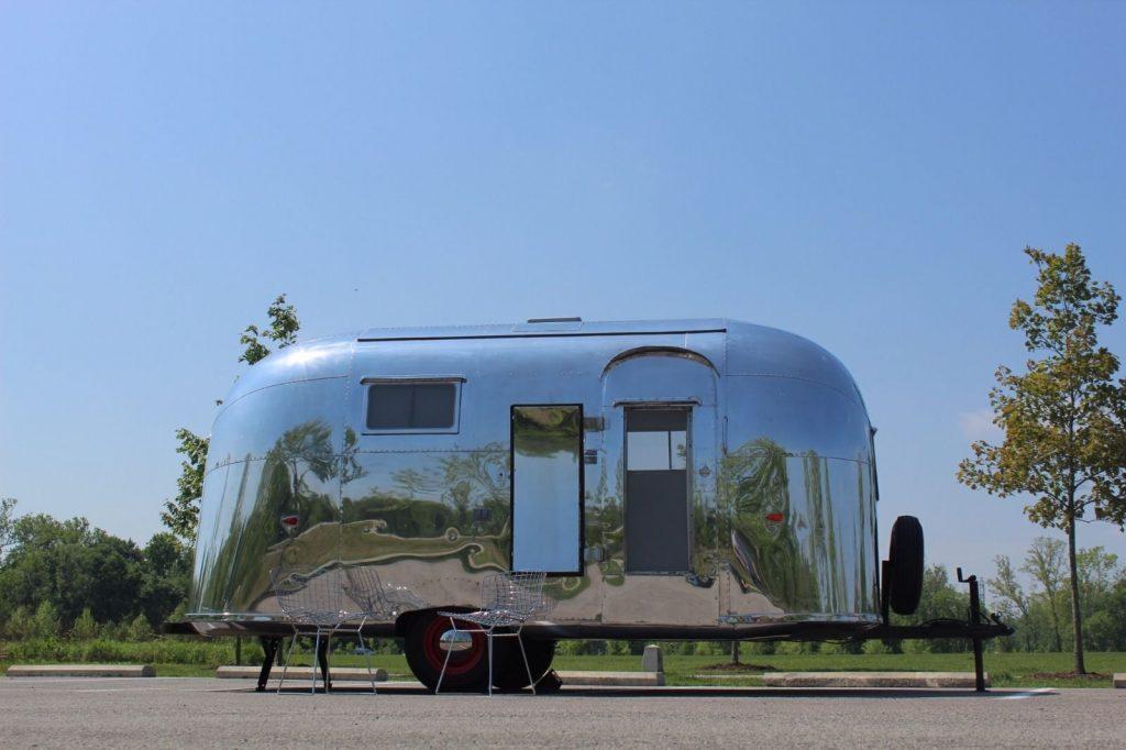 restored 1958 airstream traveler    globester camper for sale