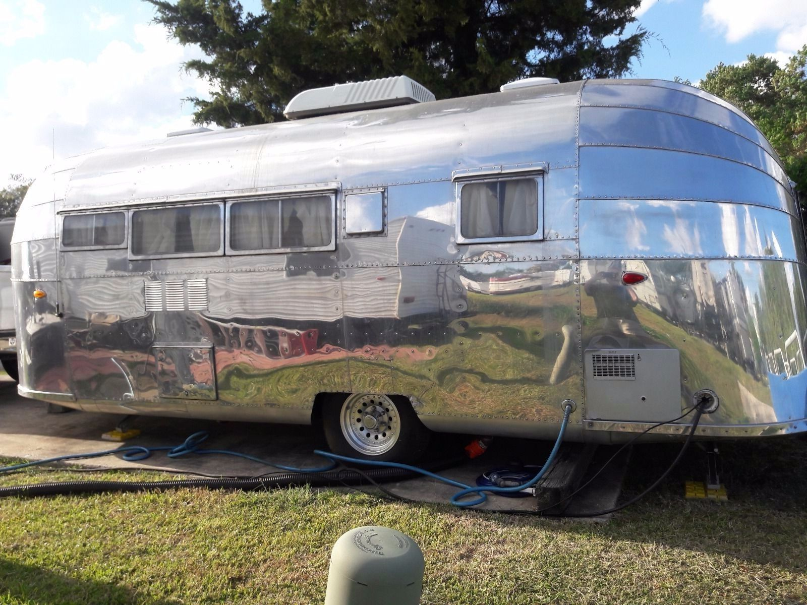 frame off restored 1953 Airstream camper trailer