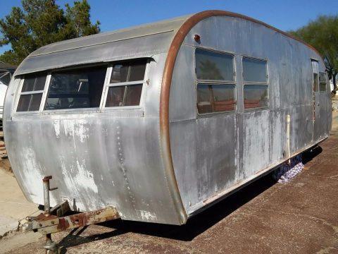 unrestored 1952 Spartan Spartanette Tandem camper trailer for sale
