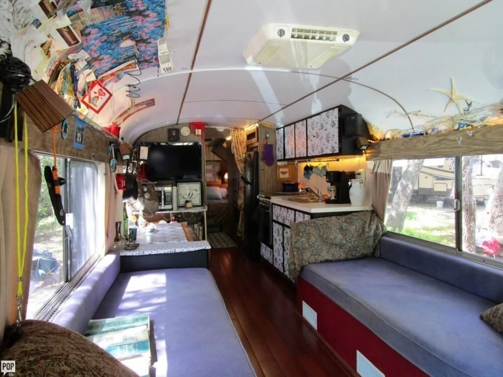 fully equipped 1965 GMC PD4106 camper bus
