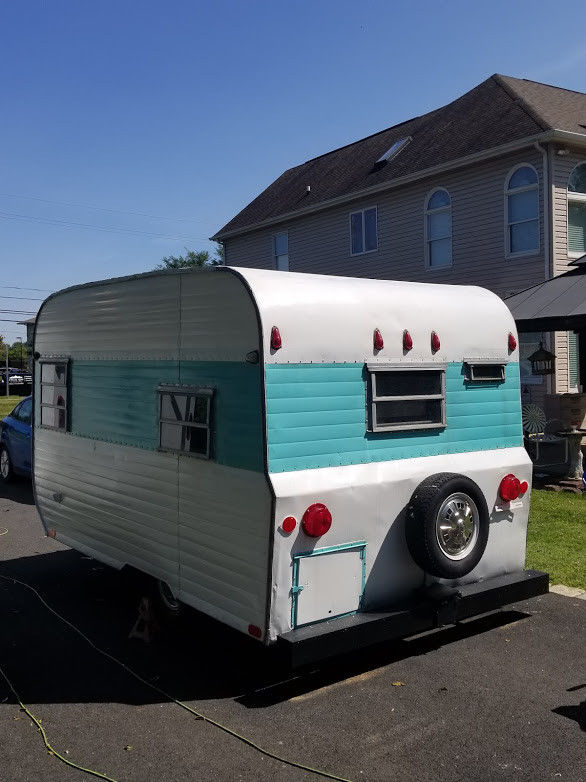 Restored 1965 Tag A Long Taga Camper Trailer For Sale