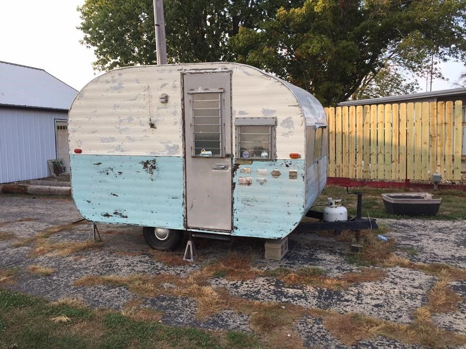 Little Water Damage 1961 Garway Camper Trailer For Sale