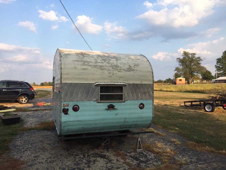 little water damage 1961 Garway camper trailer for sale