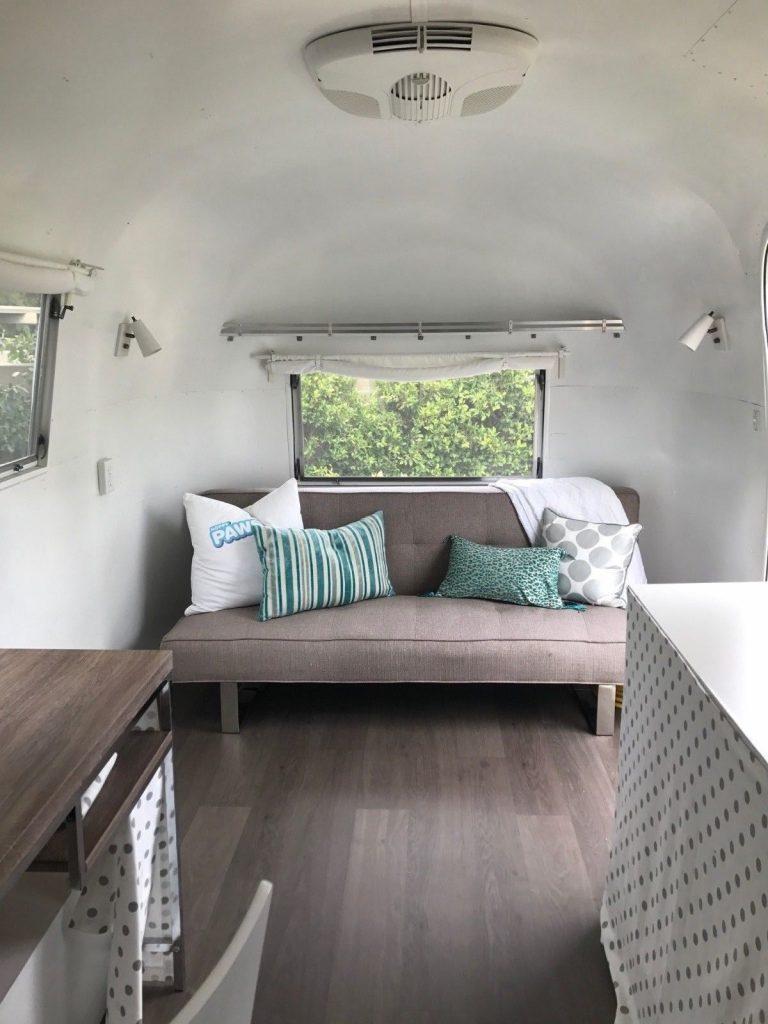 rare restored 1965 Airstream Carvel camper trailer