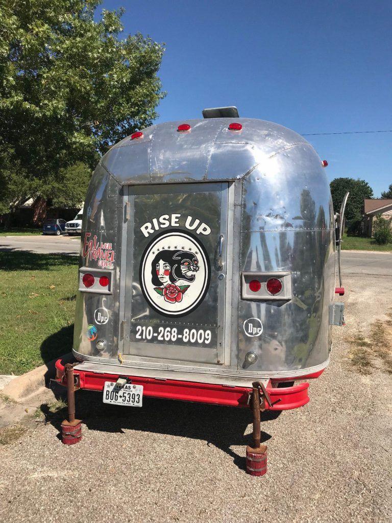 restored 1968 Airstream camper trailer