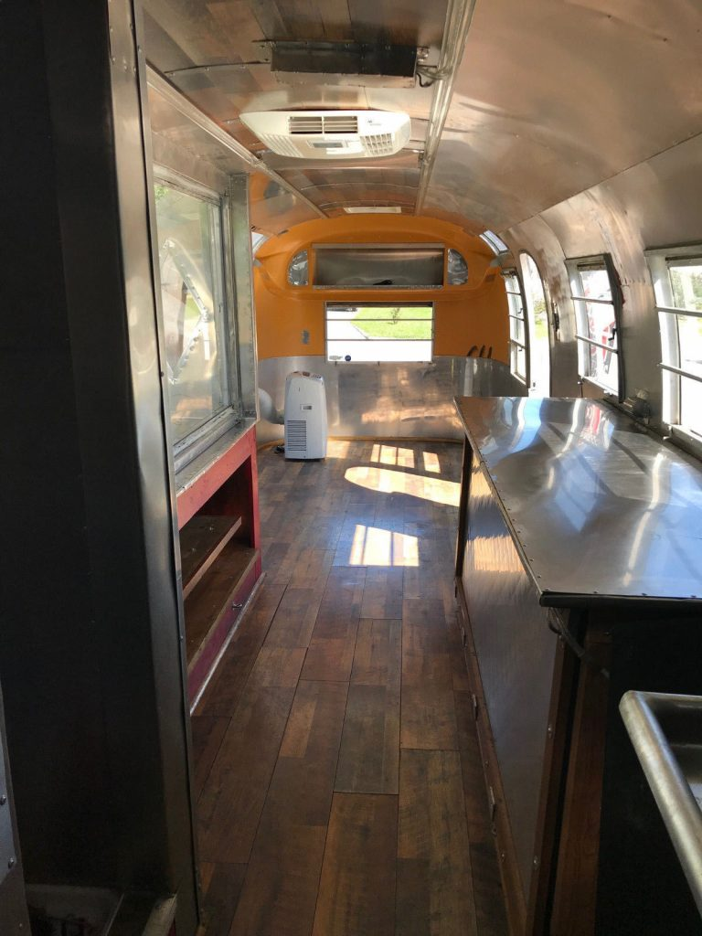 restored 1968 Airstream camper trailer