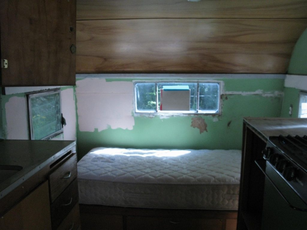 restored chassis 1961 Shasta camper trailer