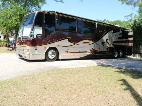 recent upgrades 2002 Prevost H3 45 camper for sale