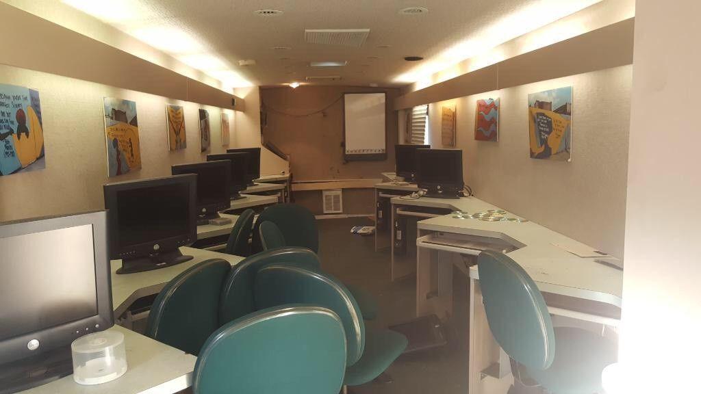 rebuilt into classroom 2001 Winnebago motorhome camper