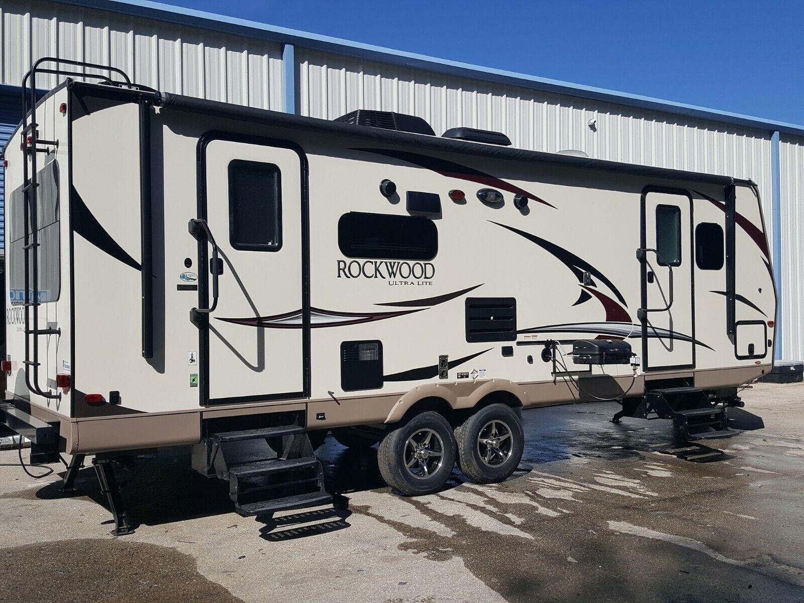 upgraded 2017 Forest River Rockwood Ultra Lite camper