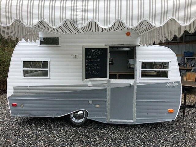 carefully restored 1969 Hilander Scotty camper