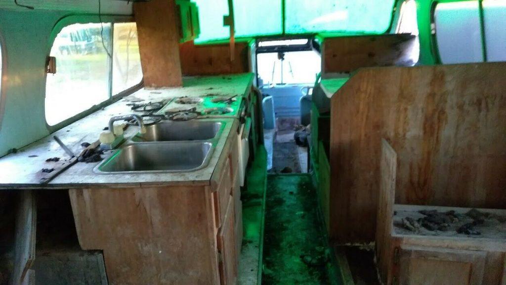 converted 1950 GMC PD4501 bus camper
