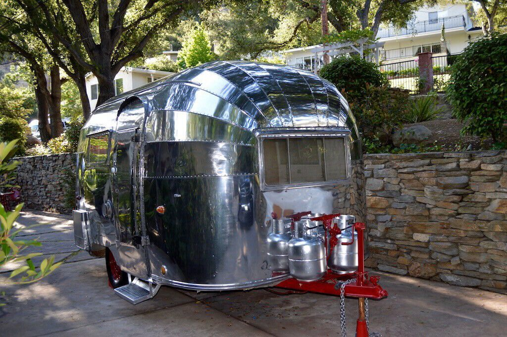 new parts 1955 Airstream Bubble Whale Tail camper
