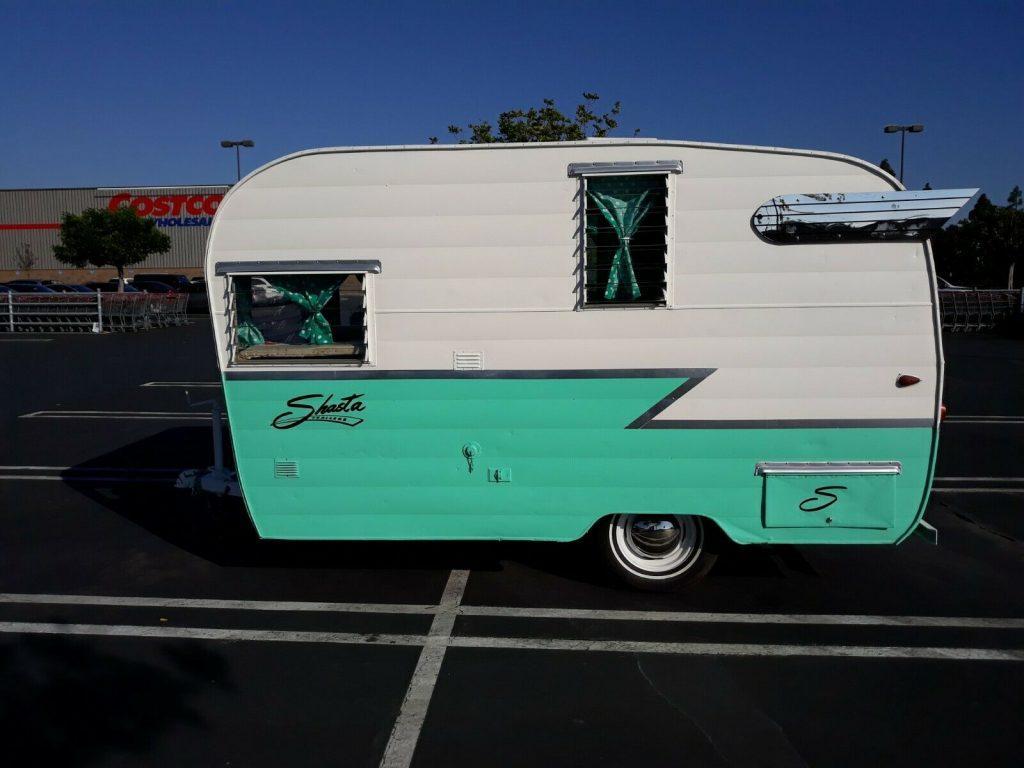 newer paint 1963 Shasta AIRFLYTE camper