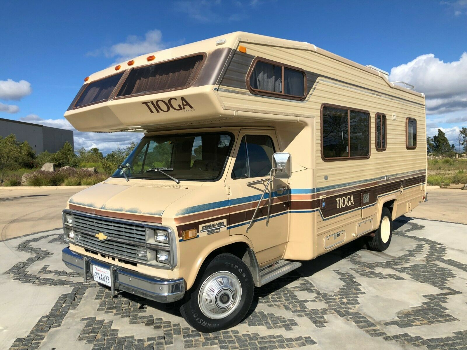 low miles 1984 Chevrolet Tioga Fleetwood G30 camper for sale