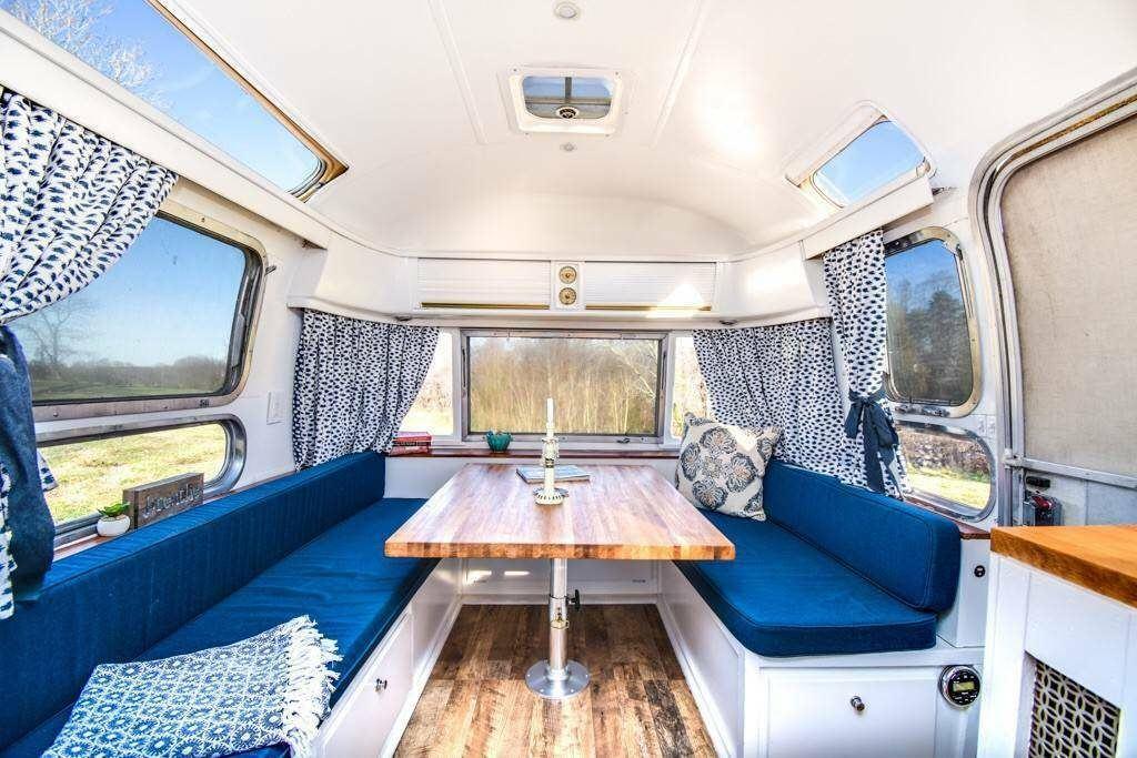restored 1976 Airstream Ambassador camper