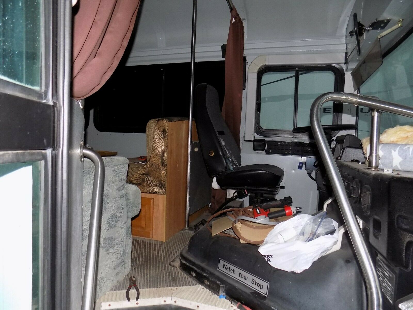 needs to be finished 1999 Blue Bird motor home camper