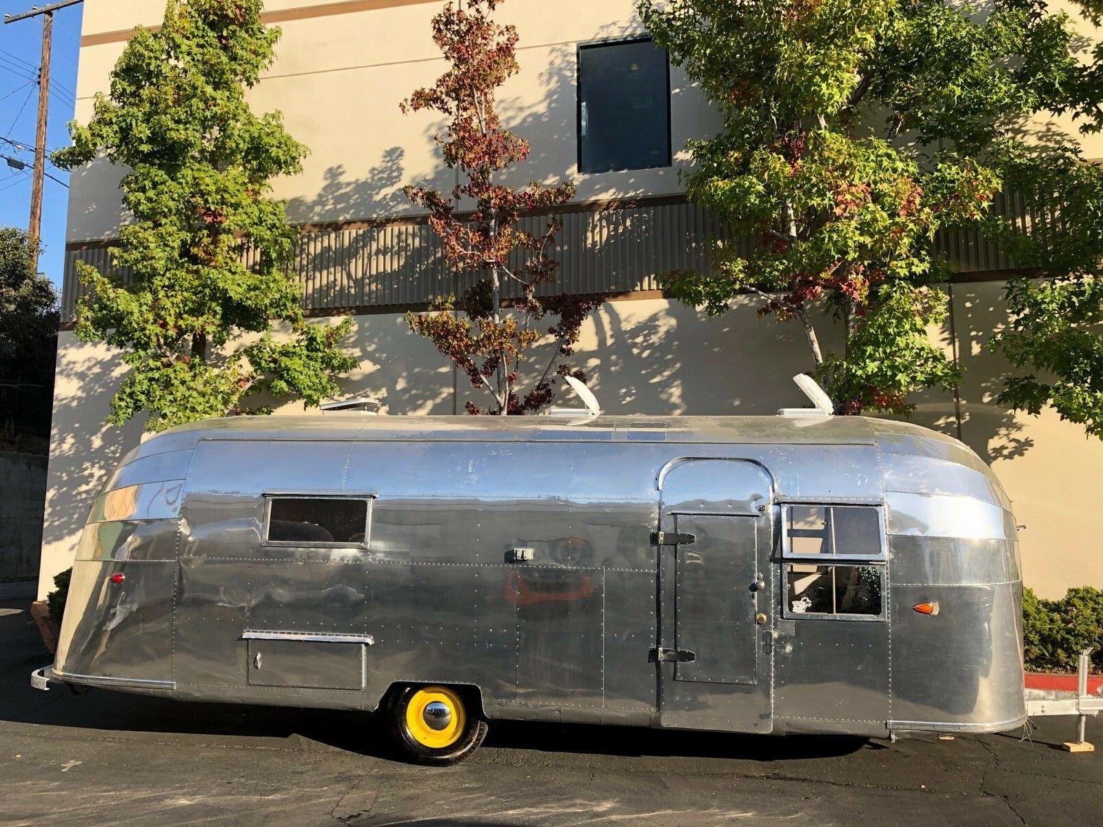 polished 1953 Airstream Overlander 26′ camper