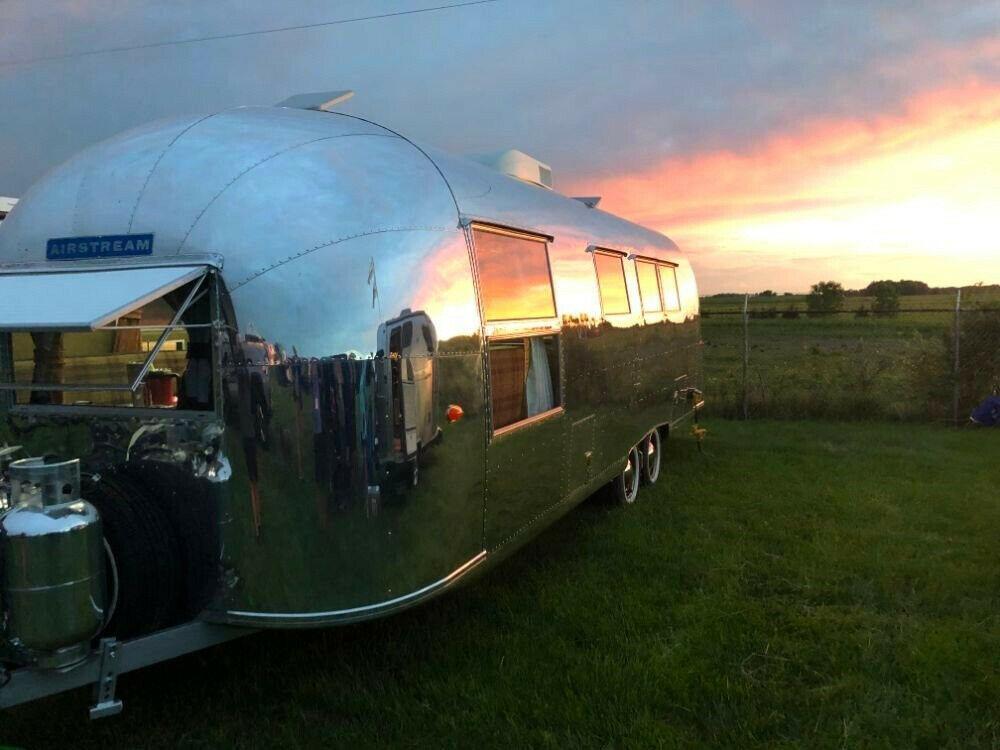 restored 1961 Airstream Ambassador camper