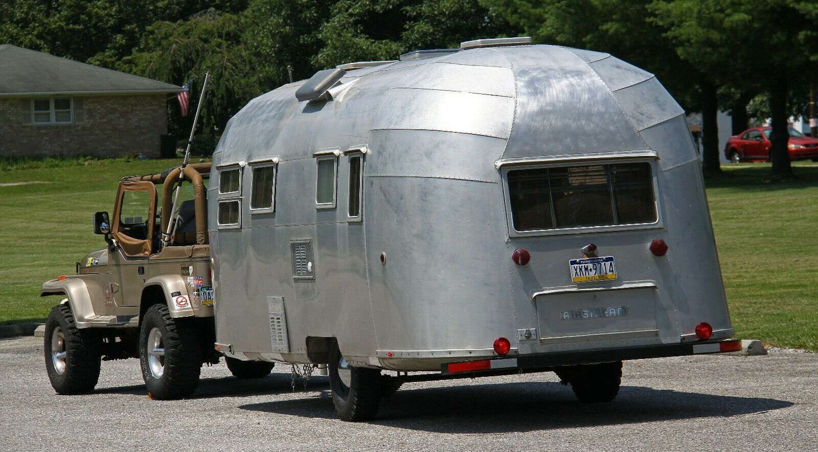 very good shape 1954 Airstream Flying Cloud Whaletail camper for sale