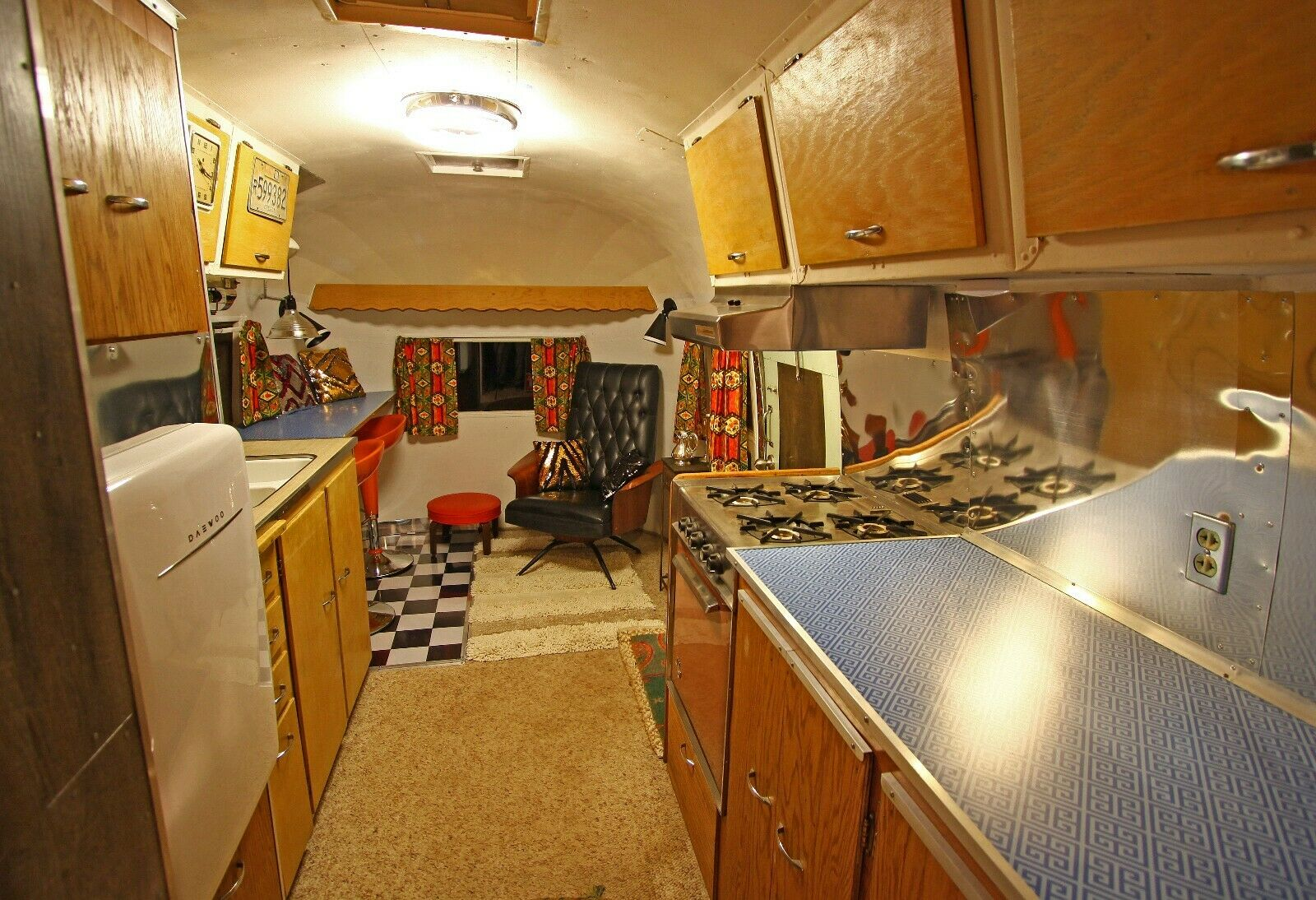 very good shape 1954 Airstream Flying Cloud Whaletail camper