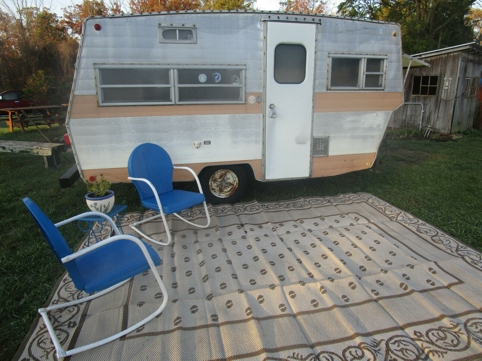 all original 1970 Shasta Lark camper for sale
