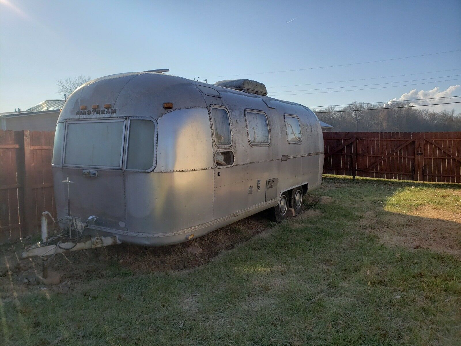 some dents 1975 Airstream Land Yacht camper for sale