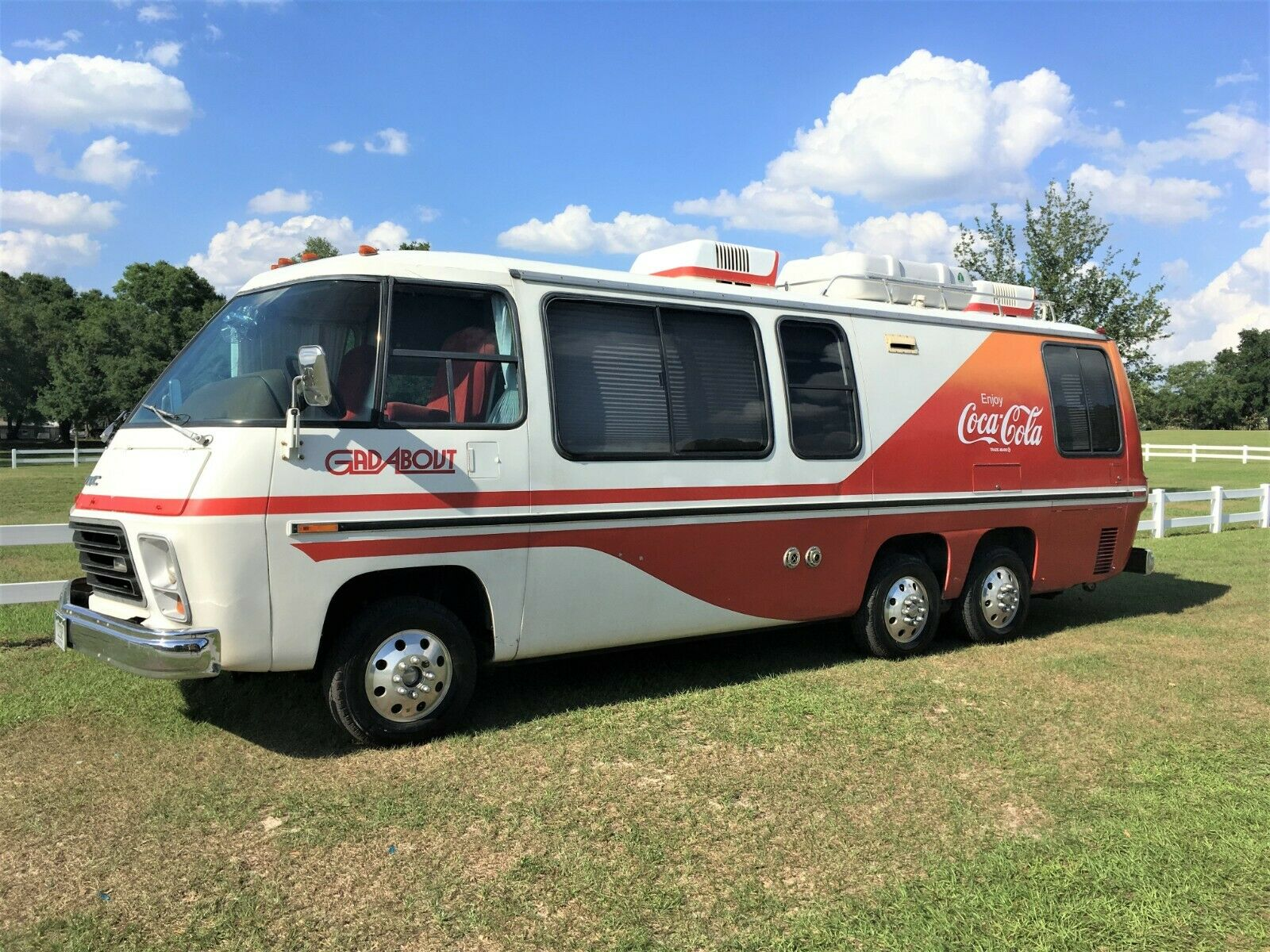 fully restored 1978 GMC Coca Cola Gadabout camper for sale