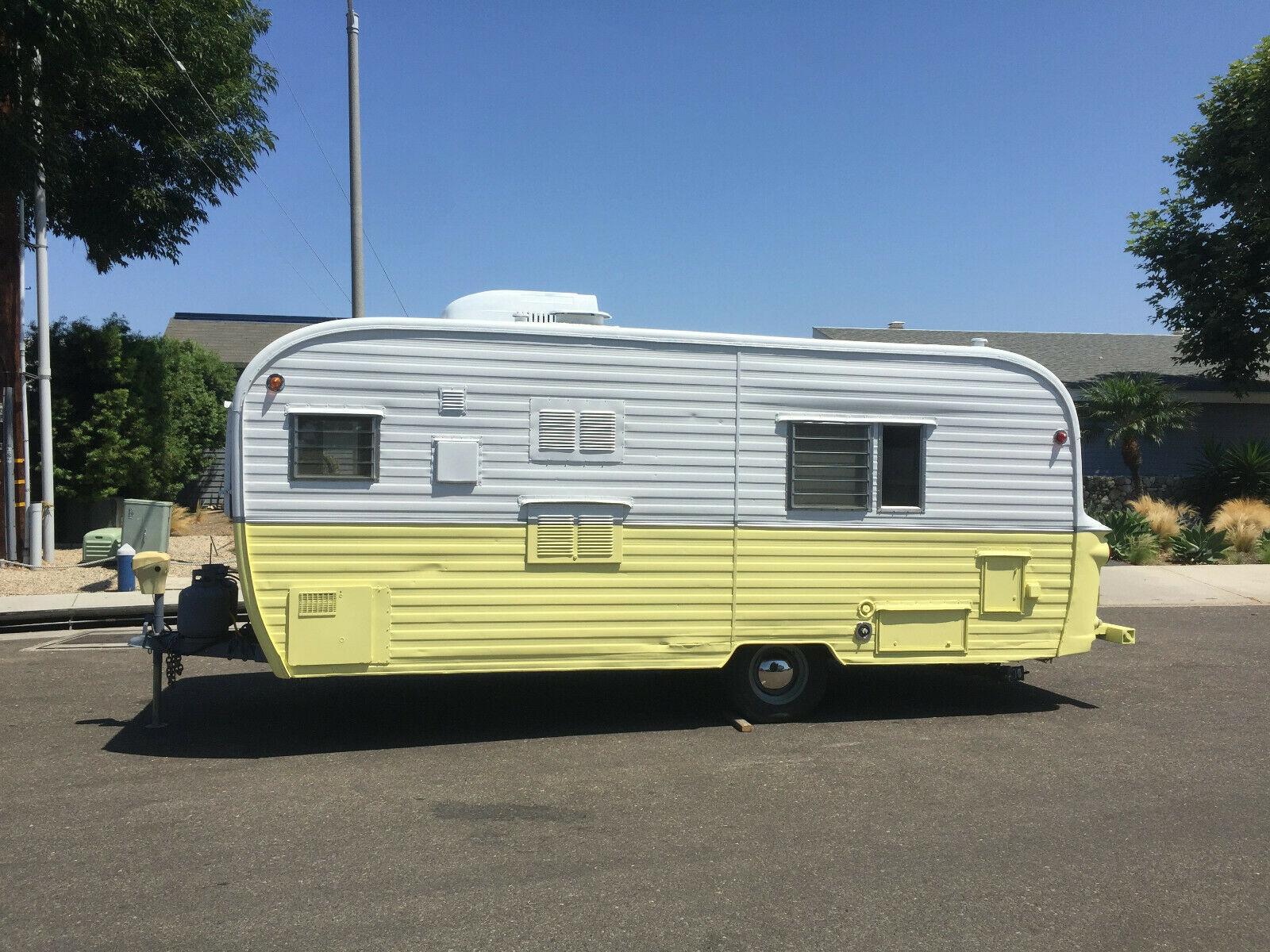 mint 1963 Kencraft camper